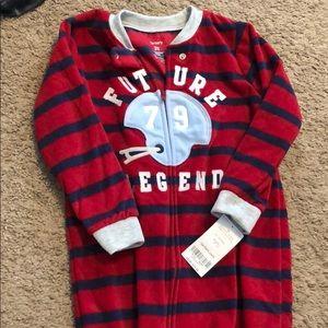 Toddler boy 3t Carter's fleece onesie